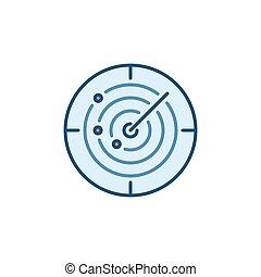rond, sonar, coloré, concept, vecteur, icône