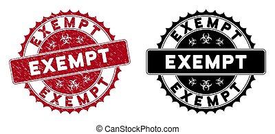rond, timbre, exempt, détresse, rouges, cachet