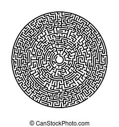 rond, vecteur, arrière-plan., circulaire, isolé, cercle, ...