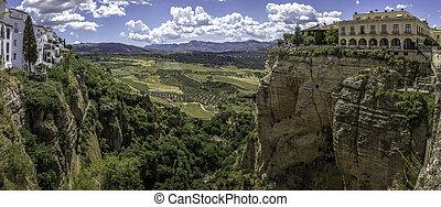 Ronda landscape panoramic view. A city in the Spanish autonomous