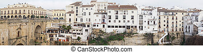 panorama view of the historic old town of Ronda in Andalusia