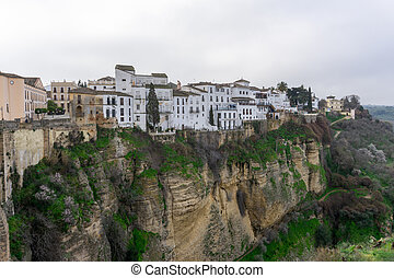 the historic old town of Ronda in Andalusia