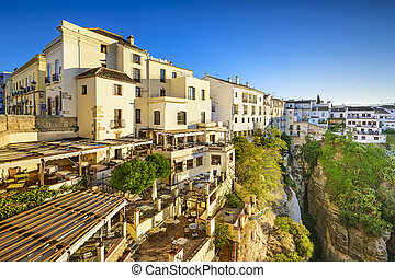 Ronda, Spain Cliffside Town - Ronda, Spain cliffside...