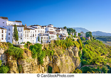 Ronda Spain - Ronda, Spain old town cityscape on the Tajo...