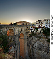 Ronda town in Andalusia, Spain - The New Bridge in the...