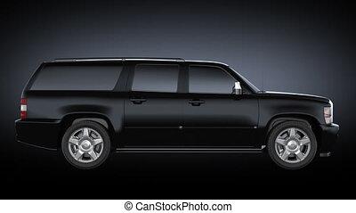 ronddraaien, auto, black., black