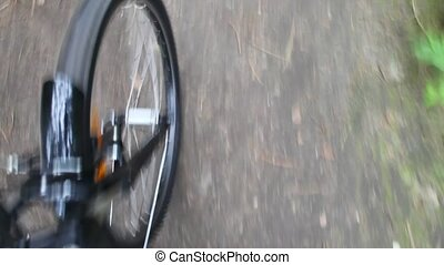 ronddraaien, wiel, fiets