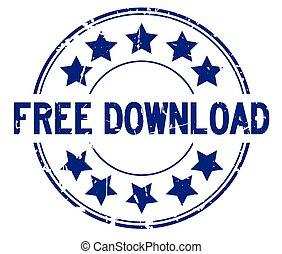 ronde, grunge, achtergrond, ster, rubber, woord, pictogram, witte , downloaden, kosteloos, blauwe , zeehondje, postzegel