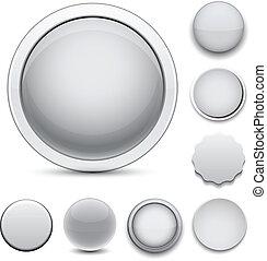 ronde, icons., grijze