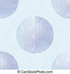 ronde, met, driehoeken