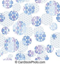 ronde, met, zeshoek, en, driehoek
