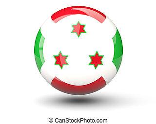 ronde, pictogram, van, vlag, van, burundi