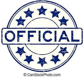 ronde, postzegel, officieel, ster, rubber, blauwe , grunge, pictogram