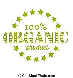 ronde, postzegel, retro, vector, organisch, product, ouderwetse