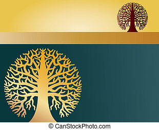 ronde, twee, bomen