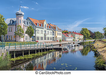 Ronneby Canalside View