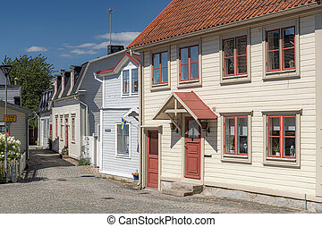 Ronneby Cobbled Street View