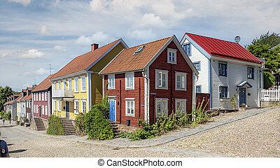 Ronneby Street Corner Panoramic View