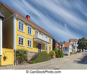 Ronneby Street View with Church