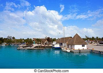 roo, isla,  México,  holbox,  quintana, puerto