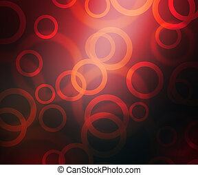 rood, abstract, cirkels, bokeh