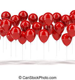 rood, ballons