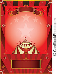 rood, circus, ouderwetse , poster