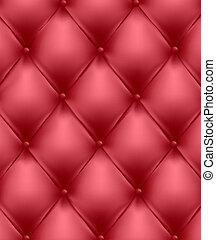rood, echt, leder, upholstery.