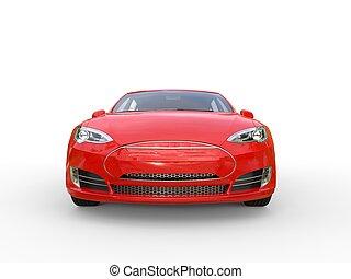 rood, elektrisch, sportautootje, -, vooraanzicht