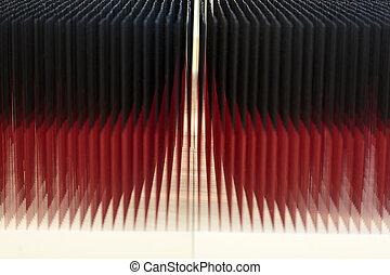 rood, en, black , abstract, gloeiend, achtergrond
