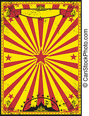 rood en geel, retro, circus