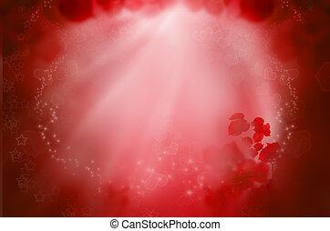 rood, fantasie, achtergrond, voor, liefde, dromen, en, valentine's dag