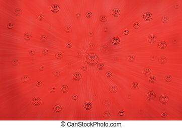 rood, feestelijk, abstract, achtergrond, met, bokeh