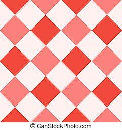 rood, fiesta, witte , diamant, schaakbord, achtergrond
