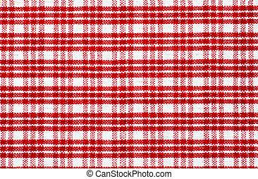 rood, gecontroleerde, tafelkleed