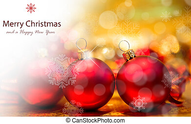 rood, gelul, achtergrond, goud, kerstmis