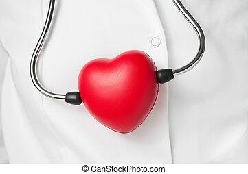 rood hart, en, stethoscope