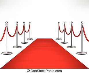 rood, illustratie, tapijt