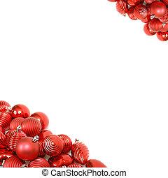 rood, kerstbal, achtergrond