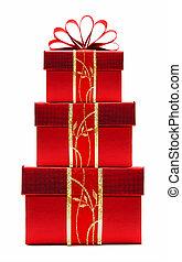 rood, kerstkado, dozen, taste