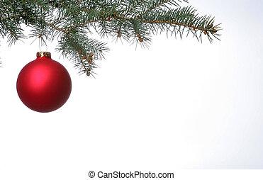 rood, kerstmis, bal