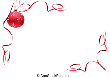 rood, kerstmis, bol