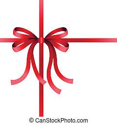 rood, kerstmis, boog