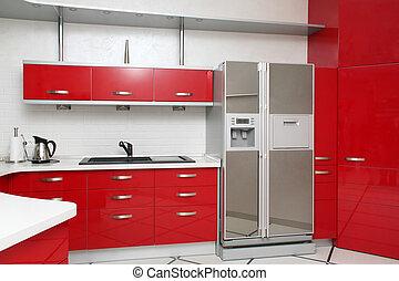 rood, keuken