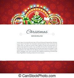 rood, kopie, kerstmis, achtergrond, ruimte