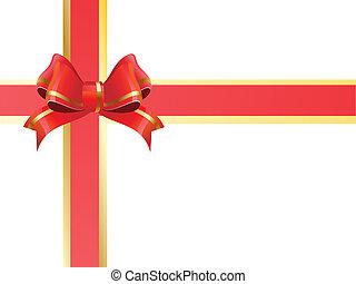 rood lint, cadeau