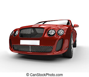rood, luxxe auto voorst, aanzicht