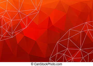 rood, polygonal, achtergrond, abstract