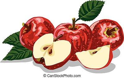 rood, rijp, appeltjes