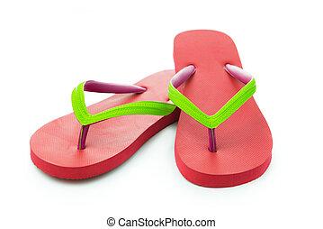 rood, sandaal